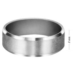 Obrączka stalowa kolor srebrny z grawerunkiem na zewnątrz
