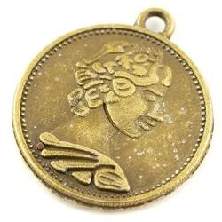 Dekoracyjna zawieszka antyczna moneta 22x20 mm