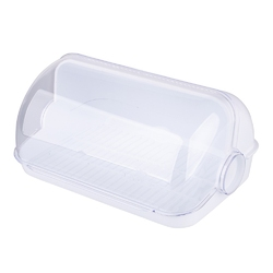 Chlebak  pojemnik na pieczywo plastikowy lamela biały