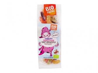 Bio wężyki owocowe bez żelatyny 100g bio minki