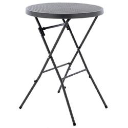 Stół antracytowy składany 110cm ø 80cm szary