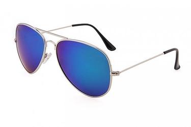 Okulary pilotki srebrno niebieskie aviator przeciwsłoneczne 2163c