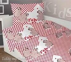 Poszewka satynowa dziecięca teddy my tedd czerwona