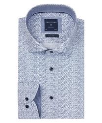 Biała koszula profuomo w wyjątkowy wzór slim fit 45