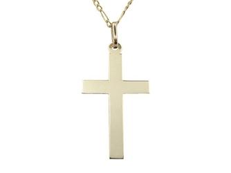 Krzyż z żółtego złota wec-z-krzyż-8