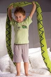 Piccolo meva samuel 2973 szaro-zielona piżamka chłopięca