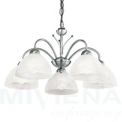 Milanese lampa wisząca 5 stal szkło