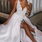 Biała ślubna suknia ślubna z tiulu i koronki chiara emo