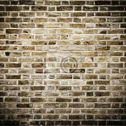 Fototapeta grunge ceglany mur, plac fotografia z winiet