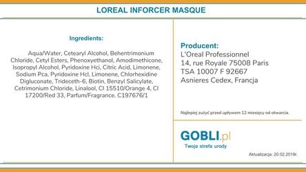 Loreal inforcer, maska regenerujaca z biotyną, do cienkich i łamliwych włosów 500ml