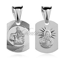 Srebrny medalik jezus  matka boska szkaplerzna dwustronny