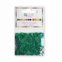 Cekiny okrągłe 10 g - zielone - ZIEL