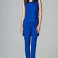 Elegancki komplet bluzka + spodnie 78 niebieski
