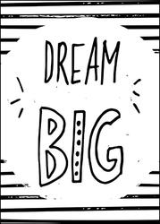 Miej wielkie marzenia - plakat wymiar do wyboru: 20x30 cm