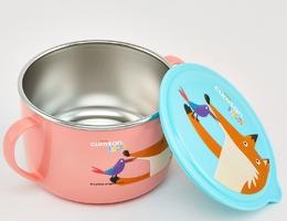 Miseczka z uszami i pokrywką dla dzieci różowa infant cuitisan ec10104p