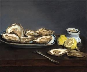 Oysters, edouard manet - plakat