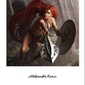 Ruda wojowniczka - plakat premium wymiar do wyboru: 30x40 cm