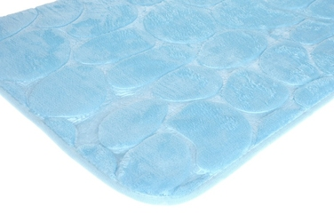 Dywanik łazienkowy 59 x 39 cm jasny błękitny