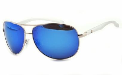 Pilotki polaryzacyjne okulary aviator lustrzanki srebrne prm-12-c4