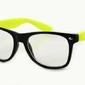 Okulary nerdy zerówki  żółte 2072d