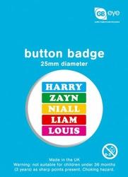 One Direction Names - przypinka