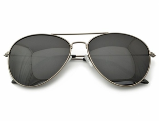 Okulary aviator pilotki przeciwsłoneczne 2161b  grafitowe