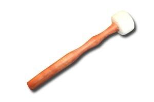 Toczona filcowa pałka - biała rozmiar xs