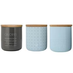 Pojemnik ceramiczny kuchenny sky blue bloomingville