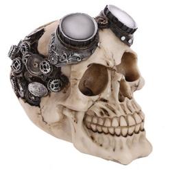 Steampunkowa czaszka w goglach - figurka