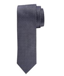 Szary jedwabny krawat profuomo ze wzorem
