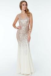 Wieczorowa suknia cekinowa w stylu glamour 627