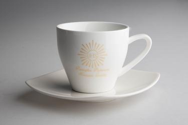 Filiżanka do herbaty ze spodkiem na prezent altom design i komunia święta 200 ml