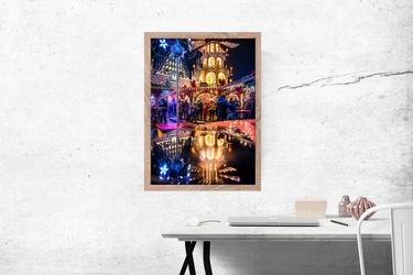 Wrocław jarmark - plakat premium wymiar do wyboru: 40x50 cm
