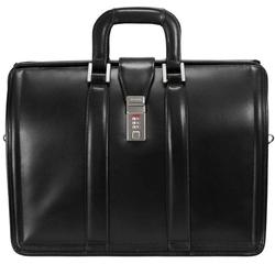 Skórzana teczka męska mcklein morgan 83345 na laptopa 17 czarna - czarny