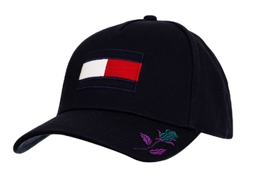 Czapka z daszkiem tommy hilfiger flag cap custom rose - am0am04299 413 - rose