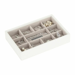 Pudełko na biżuterię 11 komorowe Mini Stackers białe