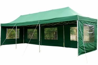 Pawilon handlowy 3x9 m ekspresowy, zielony namiot ogrodowy