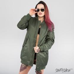 Kurtka uc - bomber long jacket olive