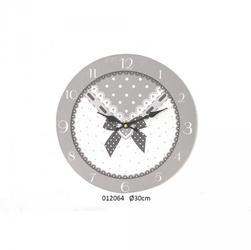 Drewniany zegar ścienny kokarda 30cm