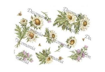 Papier ryżowy decomania 35x50 cm kwiaty