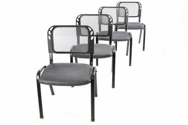 Krzesła konferencyjne szare, 4 sztuki