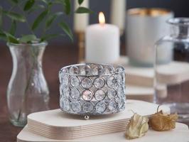Świecznik ozdobny z kryształkami na tealighty  podgrzewacze altom design 10 cm
