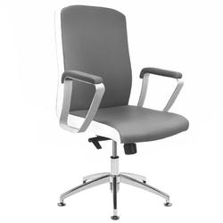 Fotel kosmetyczny rico b1501 szaro-biały