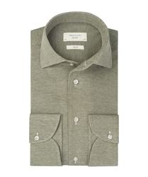 Zielona dzianinowa koszula profuomo slim fit 44