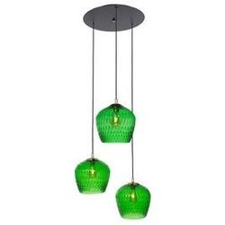 Kaspa :: lampa wisząca venus 3 klosze czarno-zielona