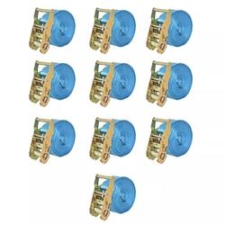 Vidaxl taśmy mocujące z napinaczami, 10 szt, 2 t, 6mx38mm, niebieskie