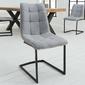 Krzesło tapicerowane floryda jasnoszare