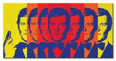 James bond multicoloured - obraz na płótnie