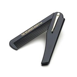 Bearded man co - 002 gents folding comb - ręcznie robiony składany grzebień do brody