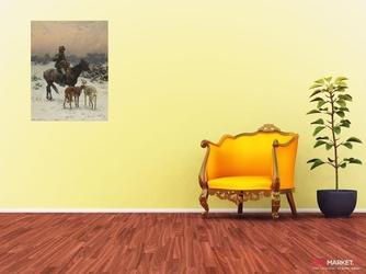 wietrzny dzień - alfred wierusz-kowalski ; obraz - reprodukcja